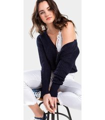 isabelle button cardigan - navy