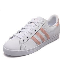 tenis lifestyle blanco-rosa adidas originals coast star w