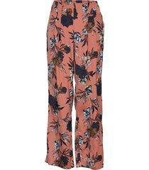trousers broek met wijde pijpen roze rosemunde