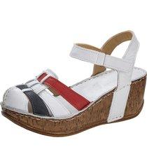 sandaletter gemini vit::röd::blå