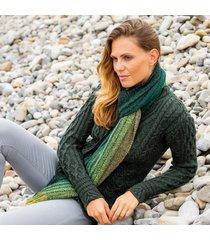 womens dark green alpaca islander scarf