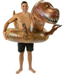 "poolcandy t-rex dinosaur 48"" jumbo swimming pool tube"