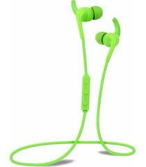 audífonos bluetooth manos libres inalámbricos, h2 auricular impermeable del funcionamiento del gimnasio de la gimnasia en el oído auricular de alta calidad real de audifonos bluetooth manos libres  (verde)