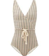 yasmin seersucker-stripe swimsuit