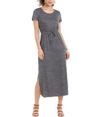 style & co petite drawstring-waist maxi dress, created for macy's
