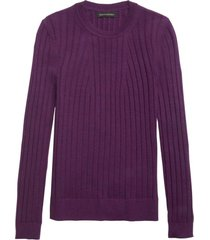 sweater merino ribbed morado banana republic