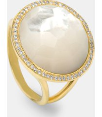ippolita 'rock candy - lollipop' 18k gold ring, size 7 in yellow gold/mother of pearl at nordstrom