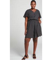 lane bryant women's flutter-sleeve polka dot romper 24 small polka dot
