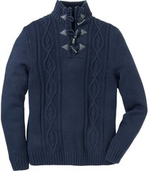 pullover a trecce (blu) - bpc bonprix collection