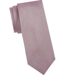 armani collezioni men's printed silk tie - pink