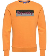 cl workwear crew sweat-shirt tröja orange superdry