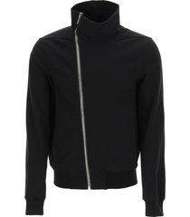 rick owens bauhaus zip-up sweatshirt