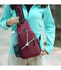 tracolla borsa più nuova da donna in tinta unita con petto a foro auricolare borsa spalla borsa