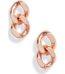 women's knotty curb chain earrings