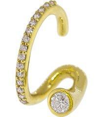 crescendo flare pave diamond ear cuff