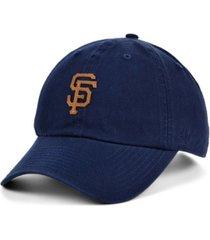 '47 brand san francisco giants double faux-leather clean up cap