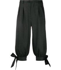 maison margiela tailored tie-side shorts - grey