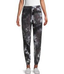 love ady women's tie-dye joggers - black - size s
