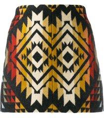 jessie western embroidered mini skirt - black