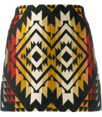 jessie western embroidered mini skirt - black