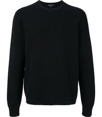 james perse long sleeve thermal cashmere sweater - black