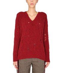 uma wang long svl knit sweater