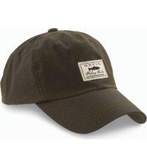vintage waxed-cotton ball cap