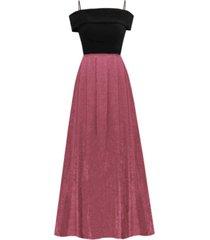 morgan & company trendy plus size cold-shoulder dress