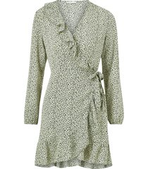 omlottklänning onlcarly l/s wrap short dress