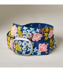 women's plum blossom wool belt