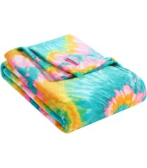 betsey johnson tie dye love ultra soft plush throw bedding