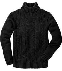 maglione dolcevita a trecce (nero) - bpc bonprix collection