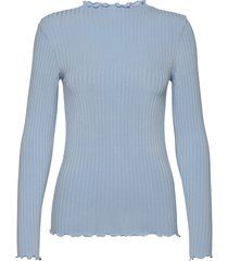 5x5 eco rib trutte t-shirts & tops long-sleeved blauw mads nørgaard
