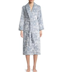natori women's floral belted robe - mauve - size l