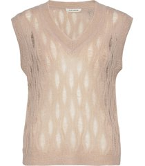 waistcoat vests knitted vests roze sofie schnoor