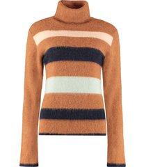 lanvin wool turtleneck sweater
