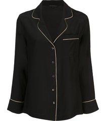 kiki de montparnasse long sleeved pajama set - black