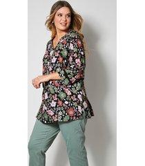 blouse janet & joyce zwart::roze::kaki