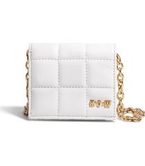 house of want h.o.w. we shop vegan leather wallet crossbody bag in bright white at nordstrom