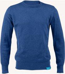 sweter z wełny merino granatowy