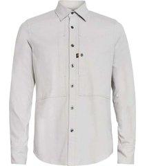 panelled slim shirt