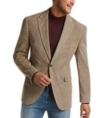 joseph abboud taupe corduroy modern fit casual coat