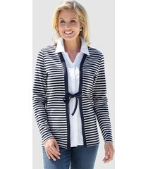 2 i 1-tröja paola marinblå::grå