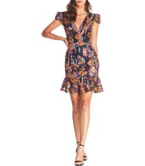 women's dress the population corinne sequin embroidered cocktail dress