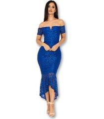 ax paris lace bardot fishtail dress