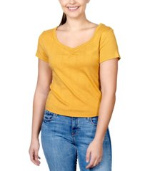 rebellious one juniors' cotton pointelle top