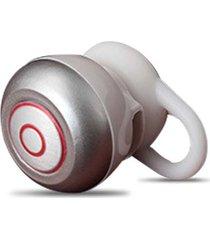 audífonos inalámbricos deportivos, mini audifonos bluetooth manos libres  in-ear stealth auricular universal con mic handfree para iphone teléfono móvil samsung (plateado)