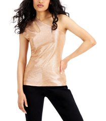 inc shine one-shoulder top, created for macy's