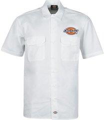 overhemd korte mouw dickies clintondale s/s work shirt white