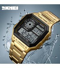 skmei 1335 reloj para hombre-dorado